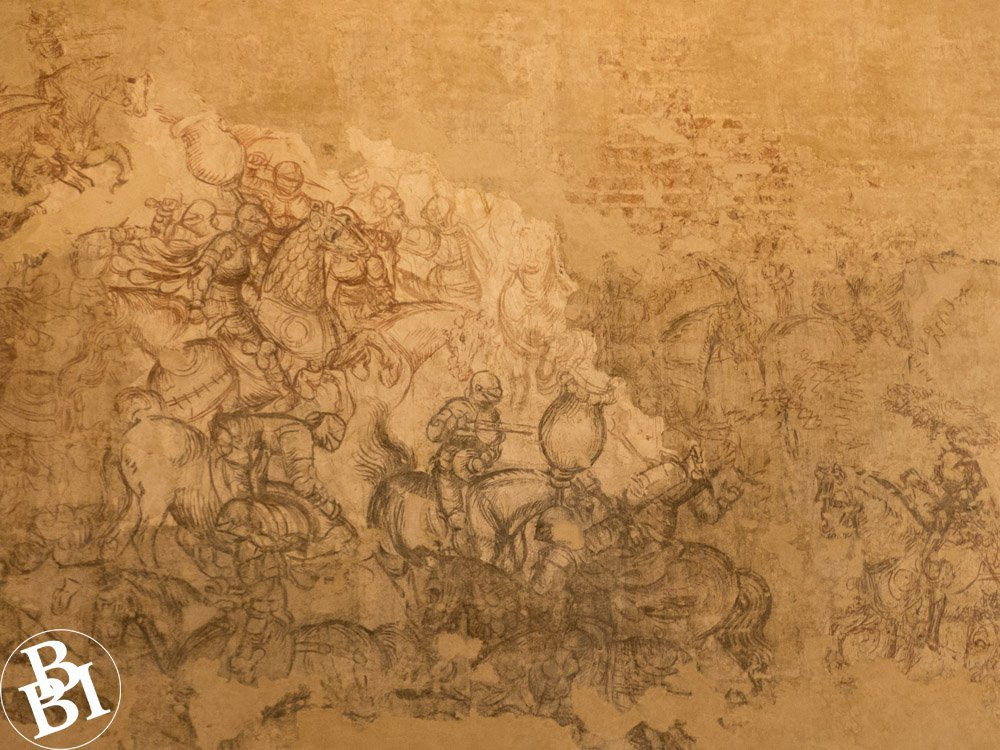 Wall drawing of the Arthurian legends