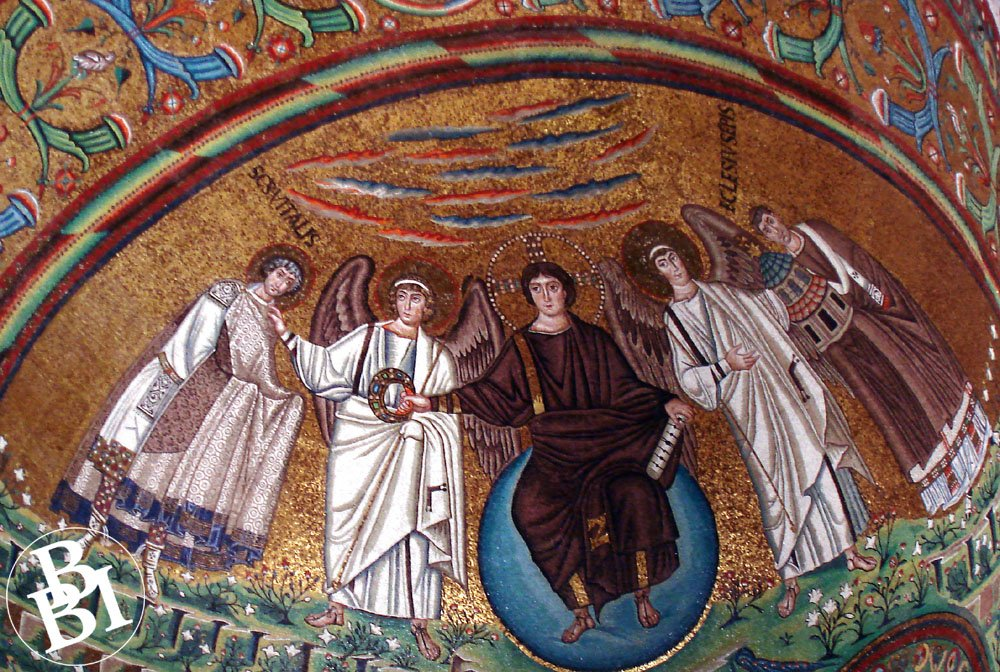 Mosaic of four saints