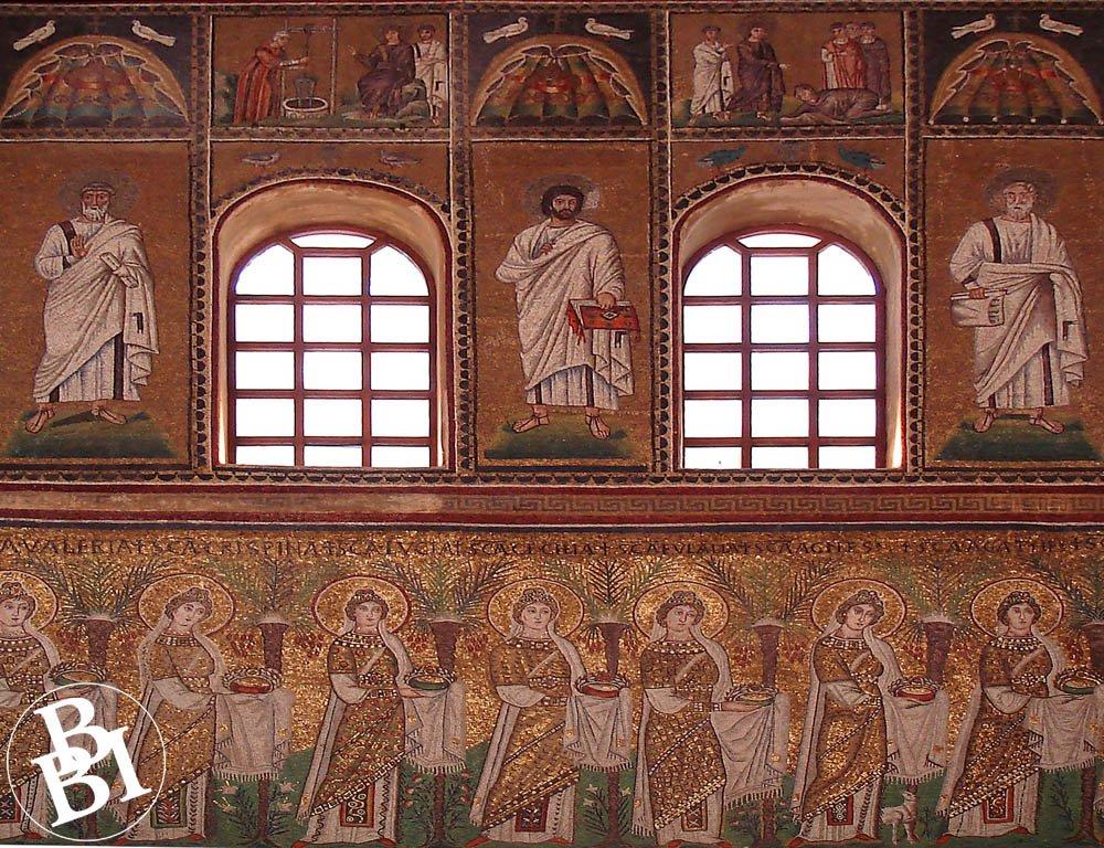 Mosaics with saints