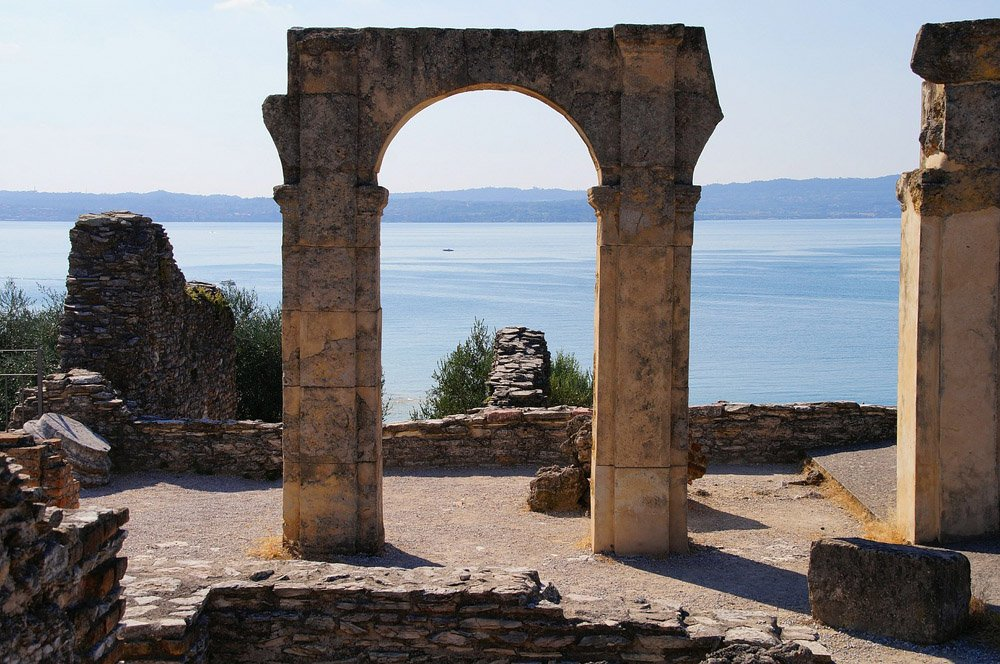 Roman archway looking out on the lake