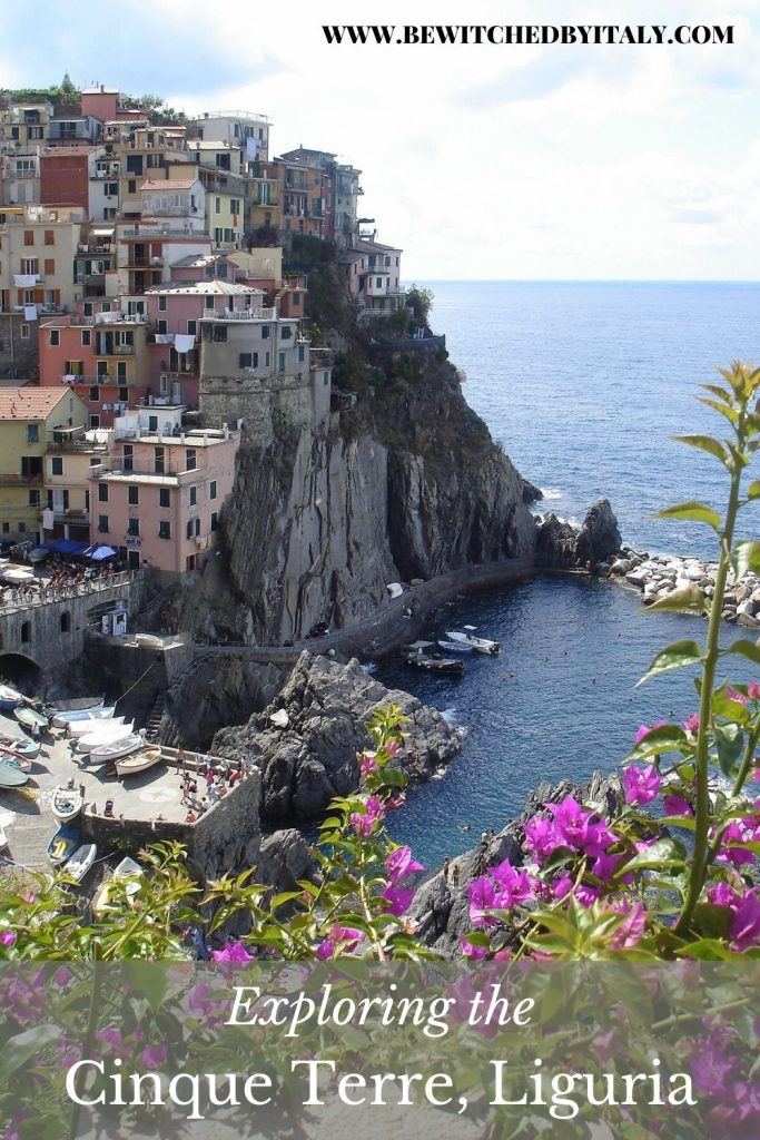Pinnable image of a hillside village in the Cinque Terre