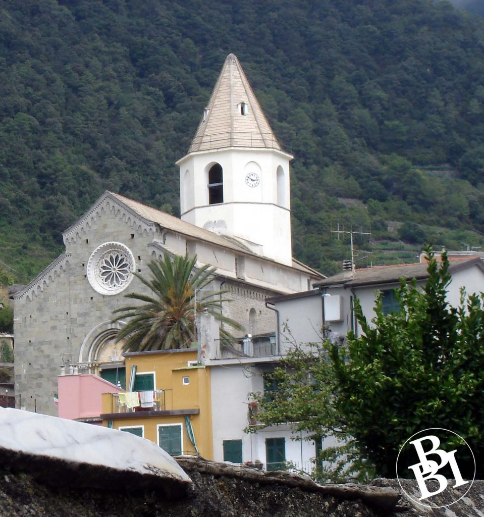 Church sitting on the hillside
