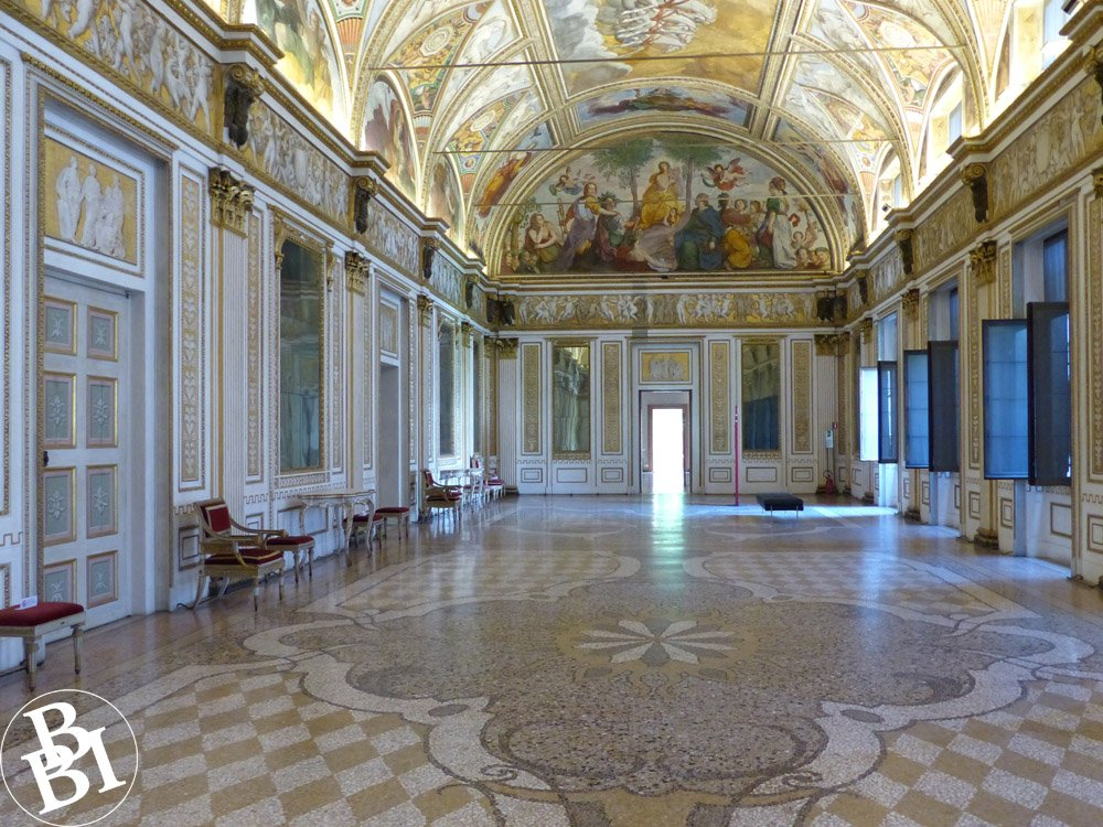 Hall of Mirrors with frescoes and painted ceiling