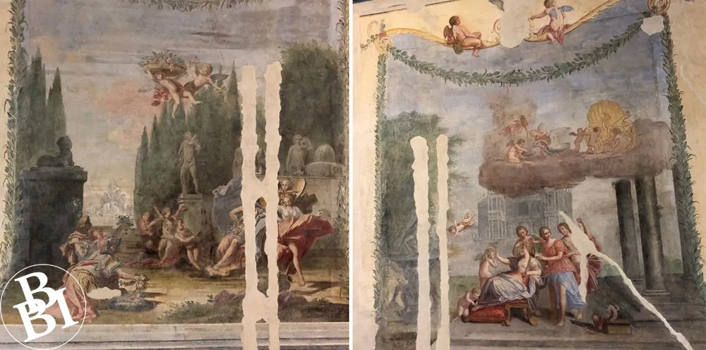 Frescoes with classical figures