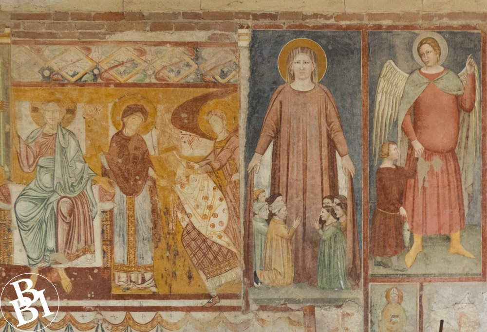 Fresco with pictures of saints