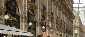 Arched interior of the Galleria Vittorio Emanuele II