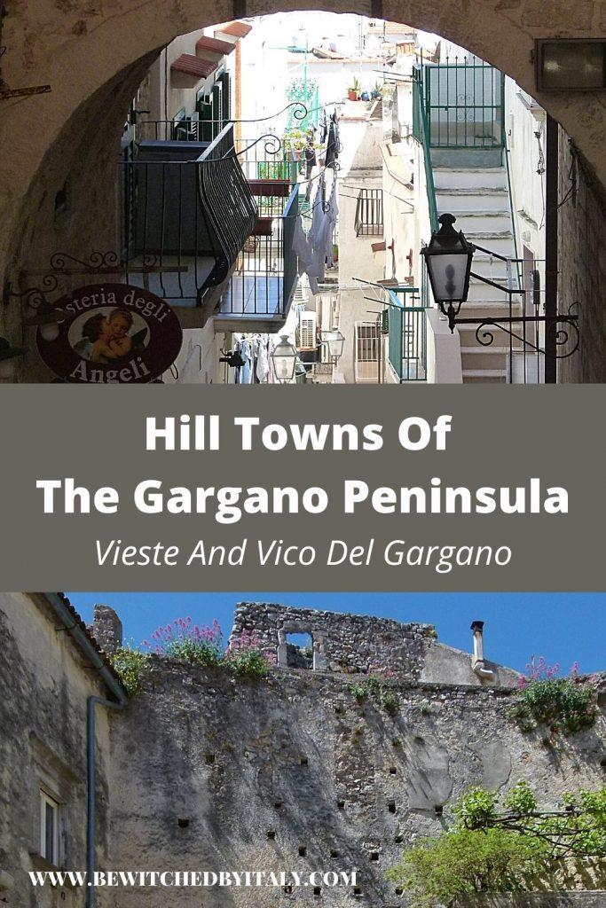 Pinnable image of Vieste and Vico del Gargano, hill towns of the Gargano Peninsula