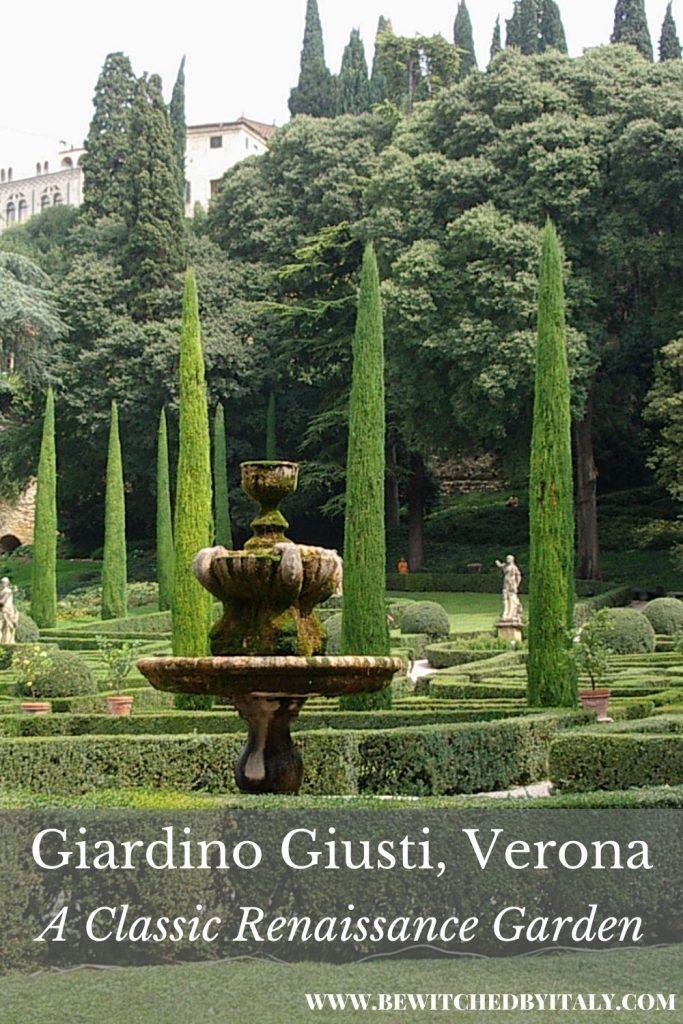 Pinnable image of the Giardino Giusti Verona