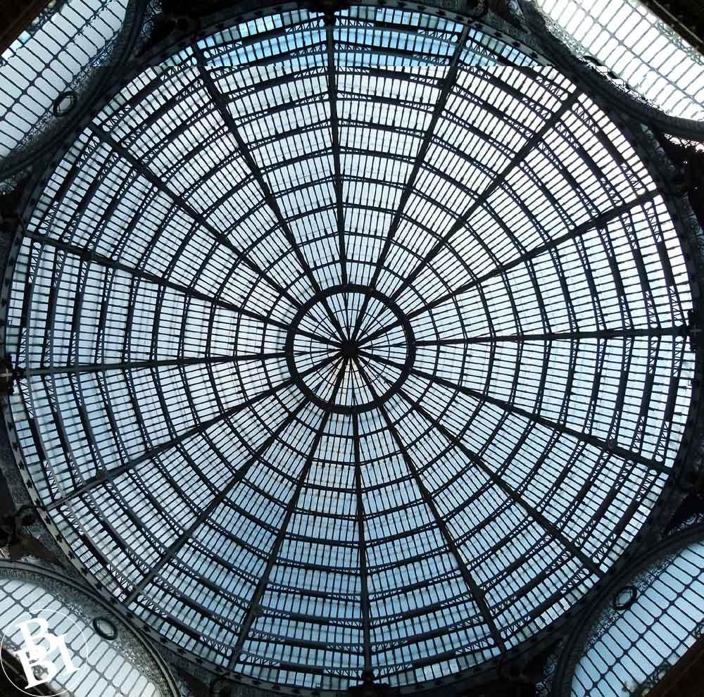 Massive circular glass dome