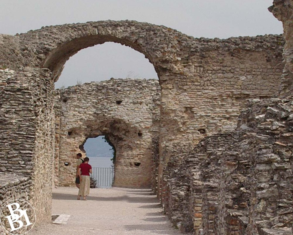 Remains of Roman stone walls and archways