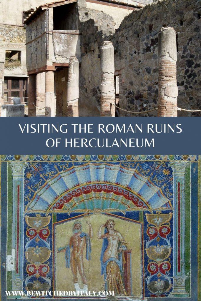 Ruins and mosaic in Herculaneum