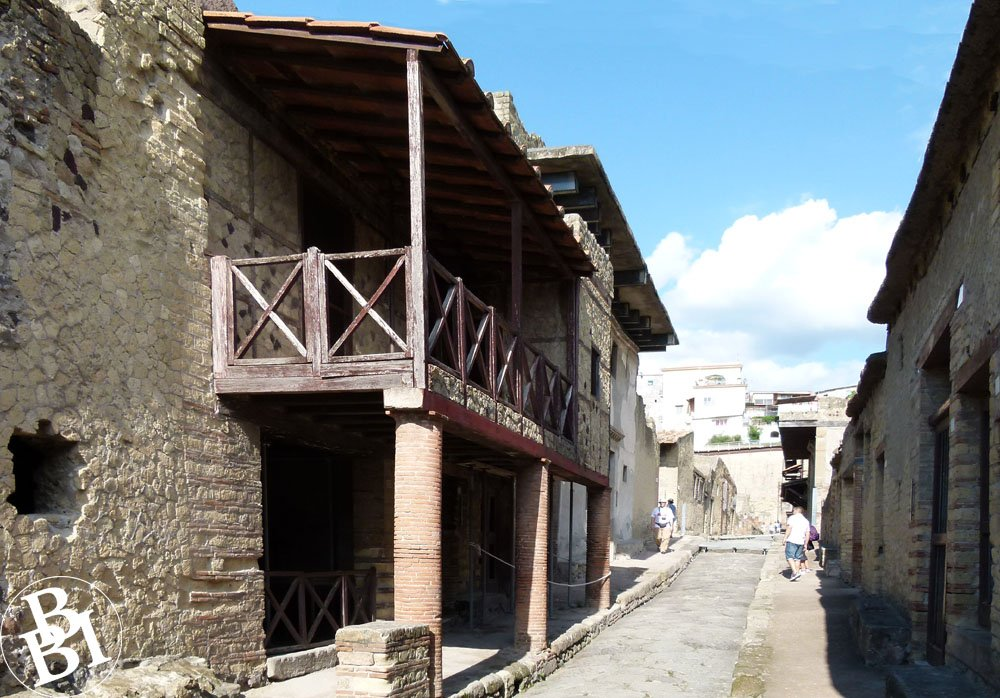 Two storey houses in Herculaneum