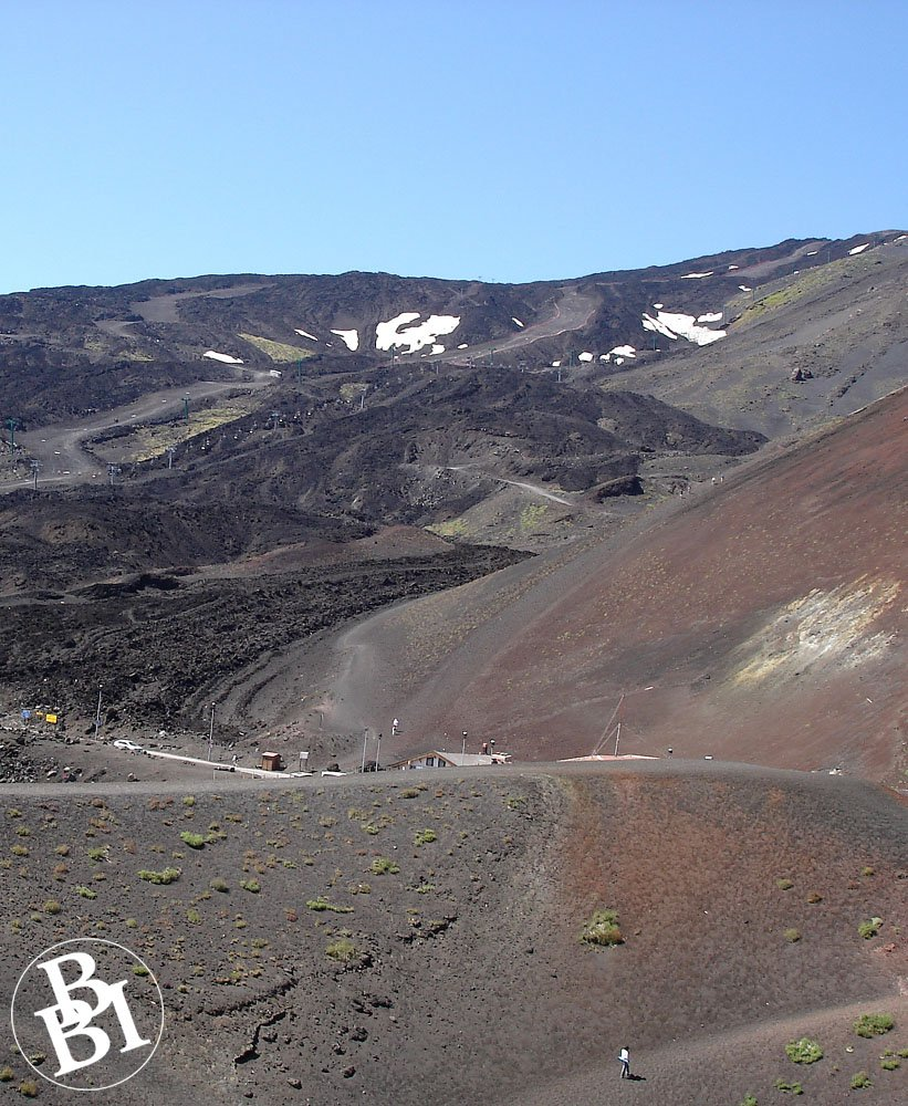 Slopes of Mount Etna with a few scattered plants