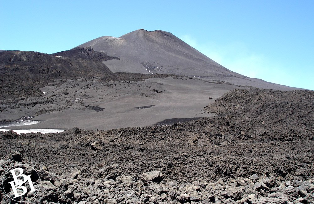 Grey volcanic rock of Mount Etna