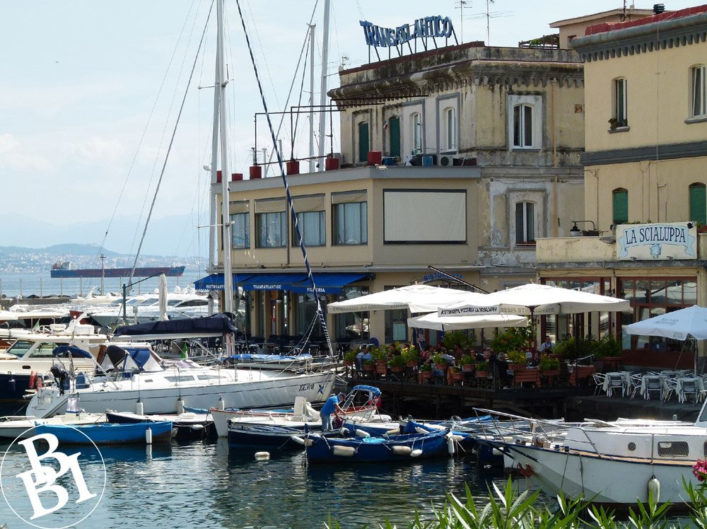 Harbour with boats and restaurants