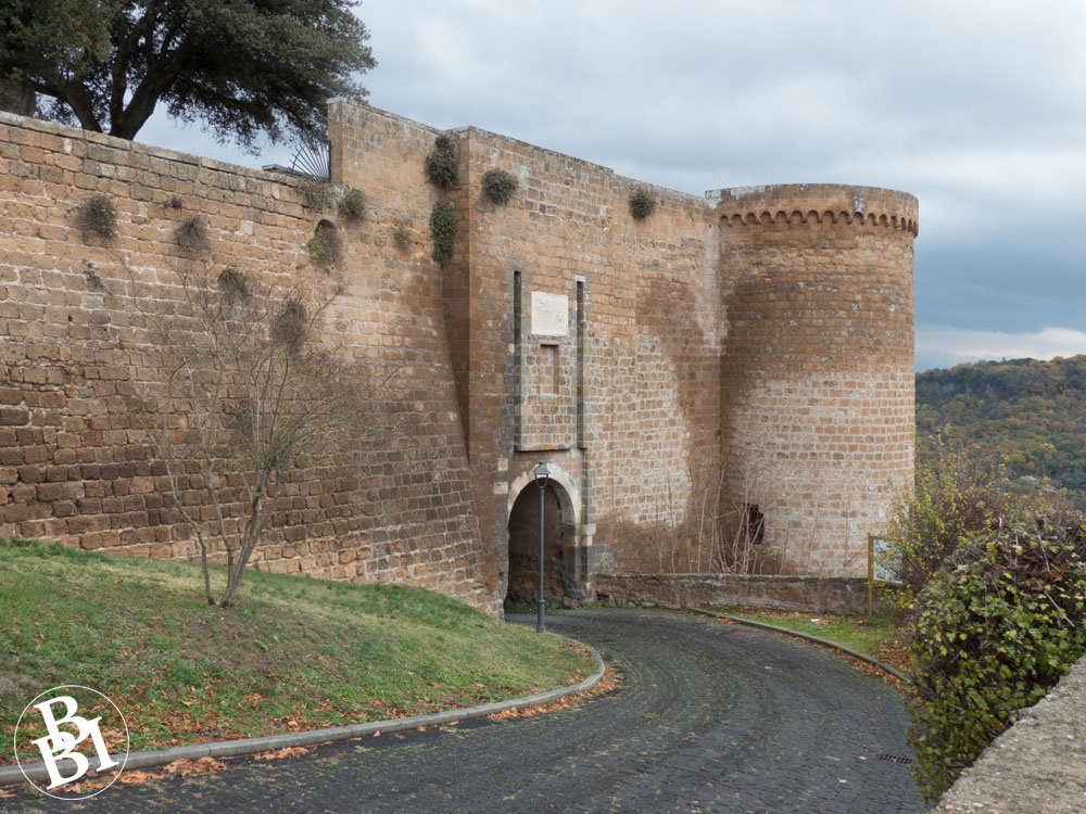 Medieval walls and gate of Orvieto