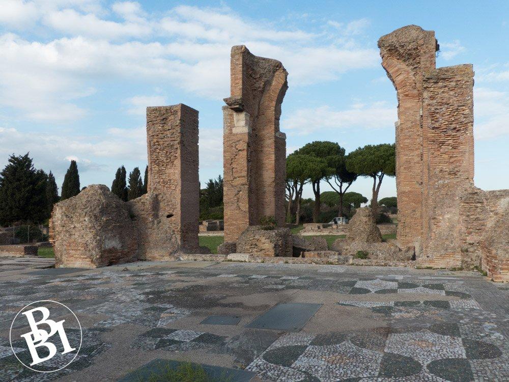 Roman remains and mosaic flooring