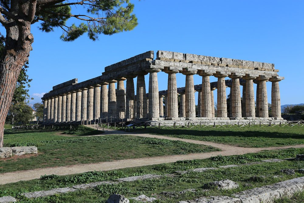 Columns of an old Greek temple