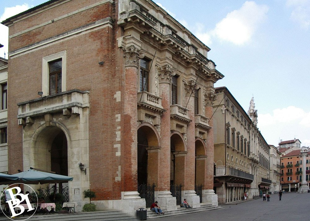 The centre of Palladio's Vicenza - a square surrounded by classical buildings