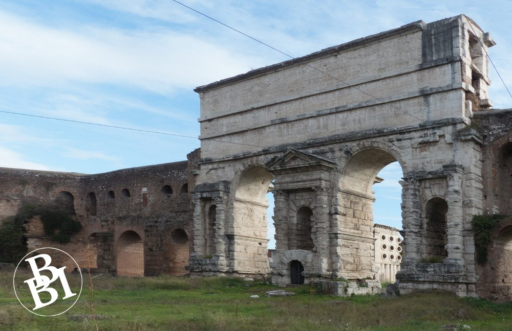Remains of water channels above the Porta Maggiore