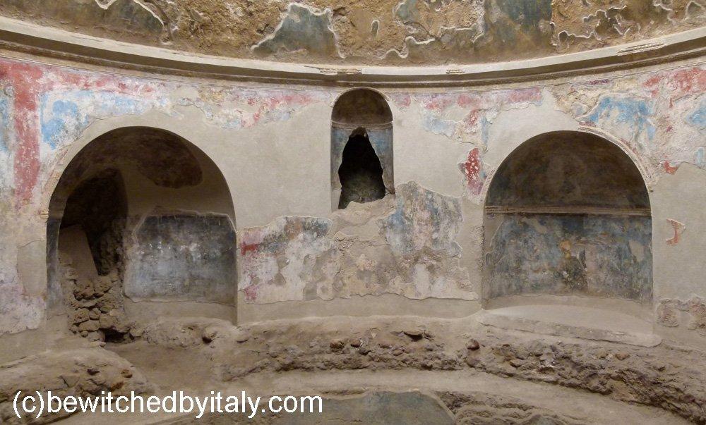 Remains of Roman frescoes