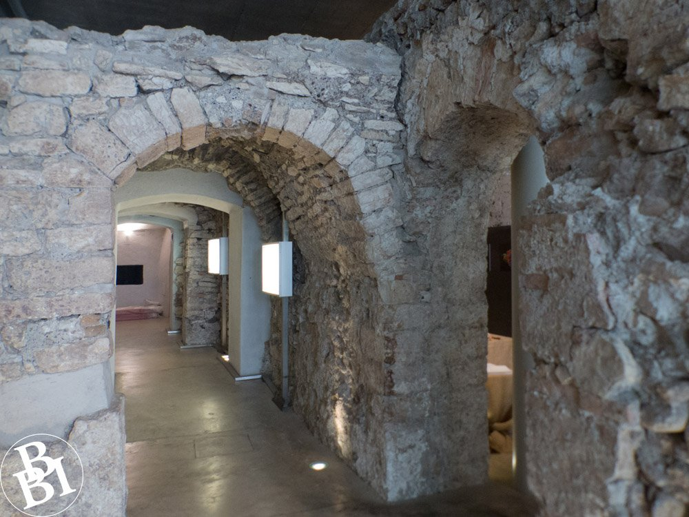 Roman wall and archways