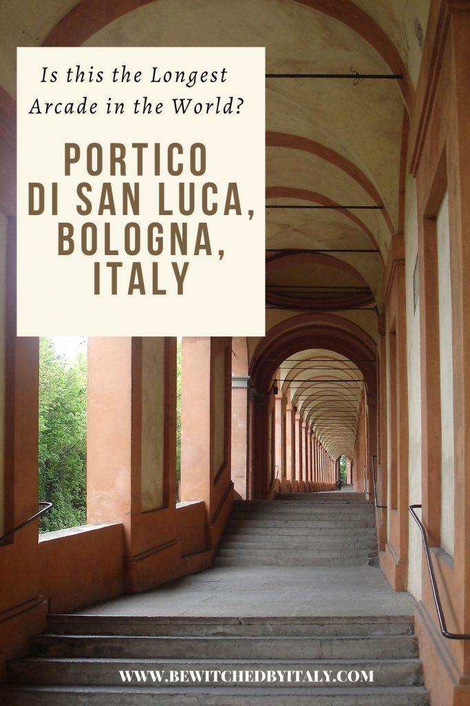 The arches of the Portico di San Luca