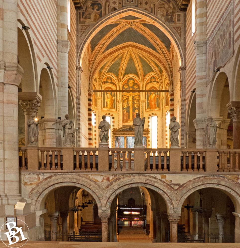 Ornate interior of the Basilica of San Zeno Verona