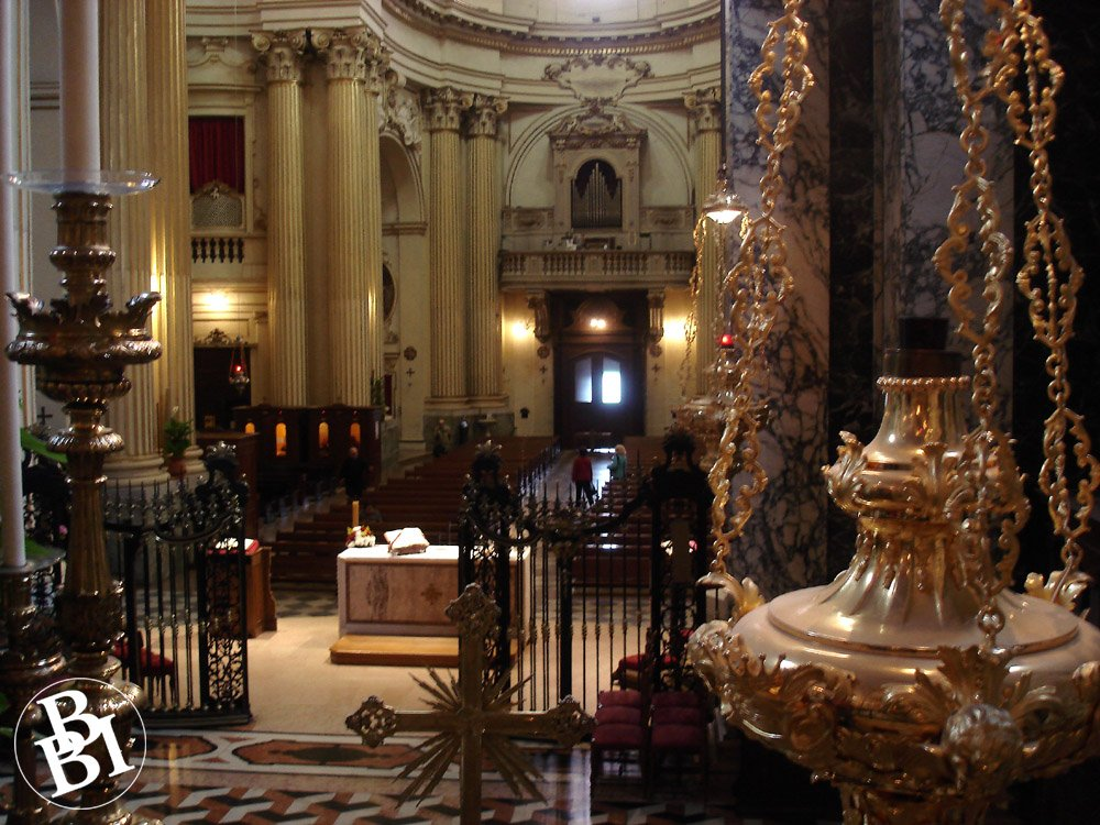 Opulent furnishings of the church interior