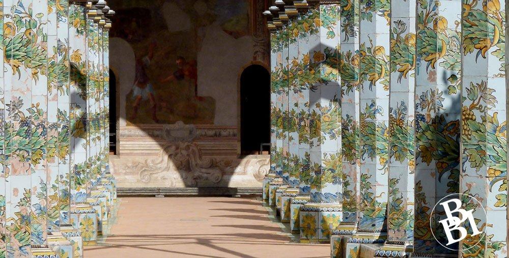 Tiled columns of Santa Chiara