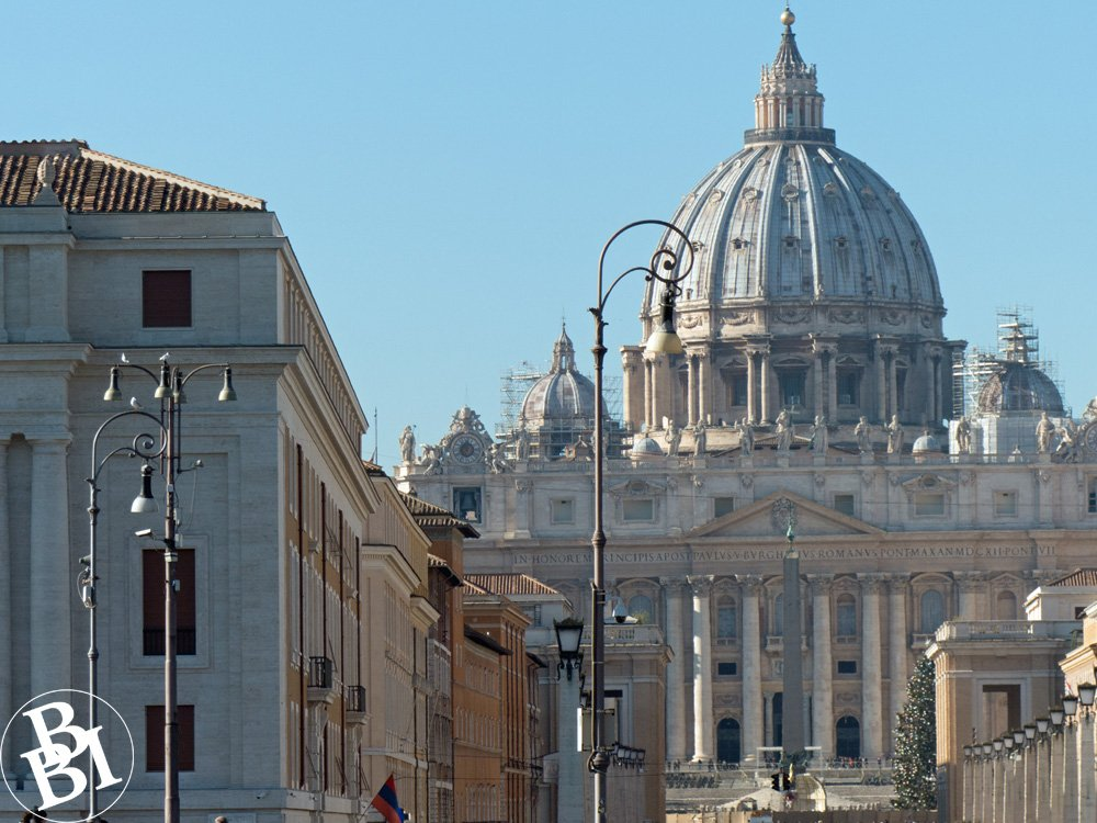 Dome of St Peter's Church in the Vatican City