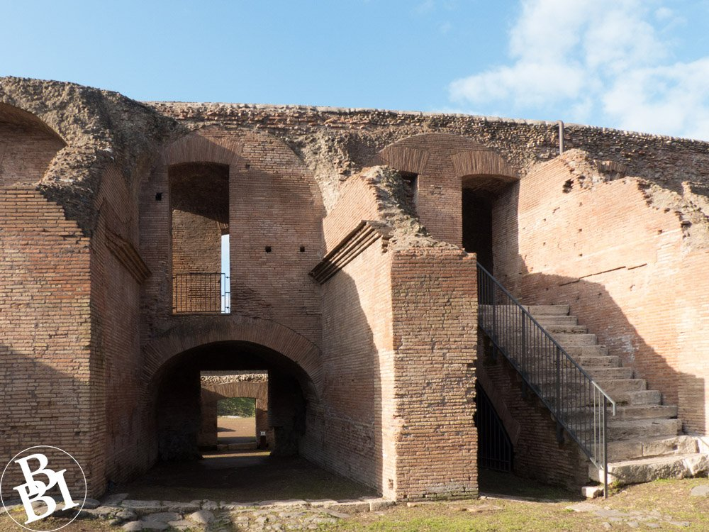 Remains of the Roman stadium with archway and stairs