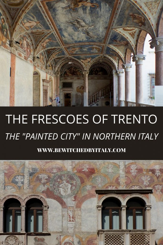 Painted ceiling and exterior frescoes