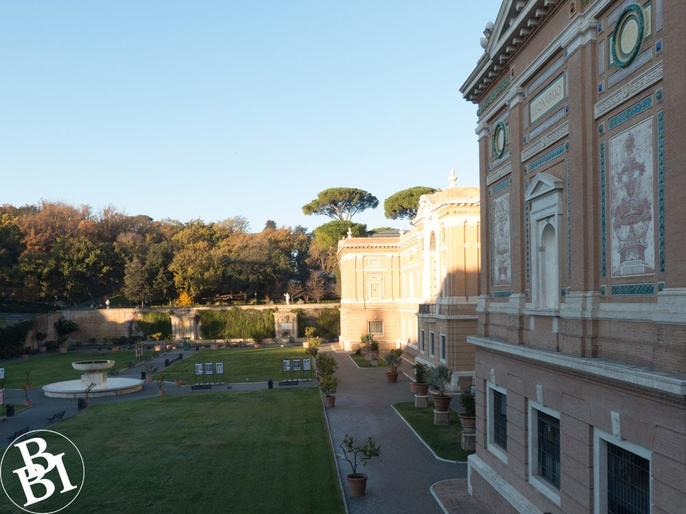 Lawns and fountains of the Vatican Gardens
