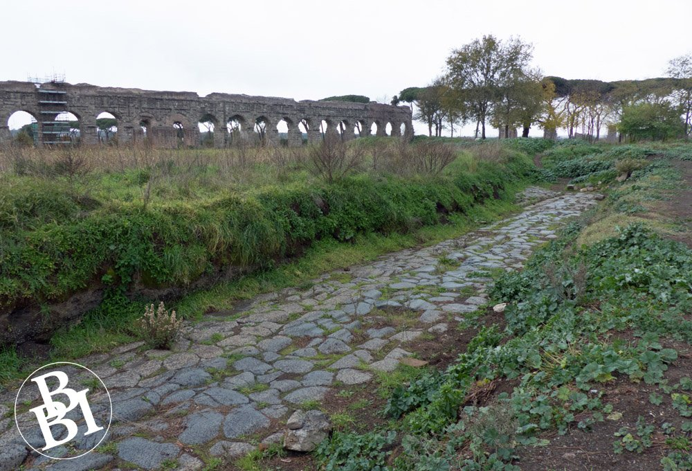 A stretch of ancient Roman road