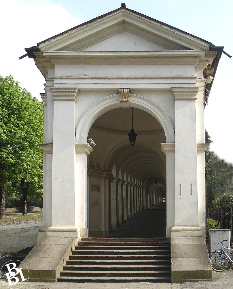 Arched entrance to the portici of Monte Berico
