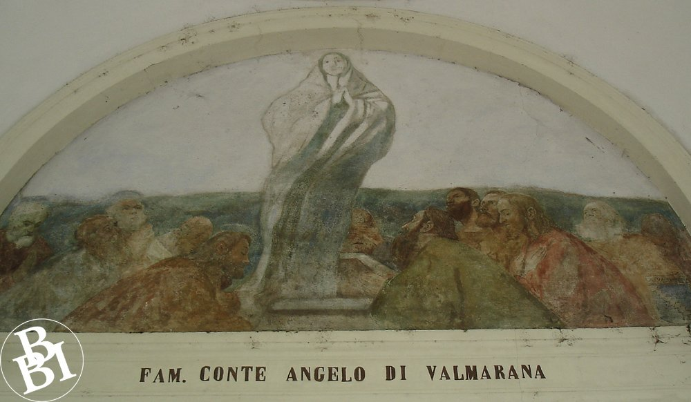 Fresco above one of the arches in the arcade