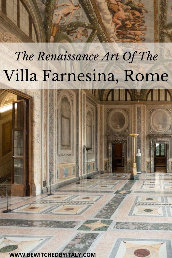 Ornate interior of the Villa Farnesina
