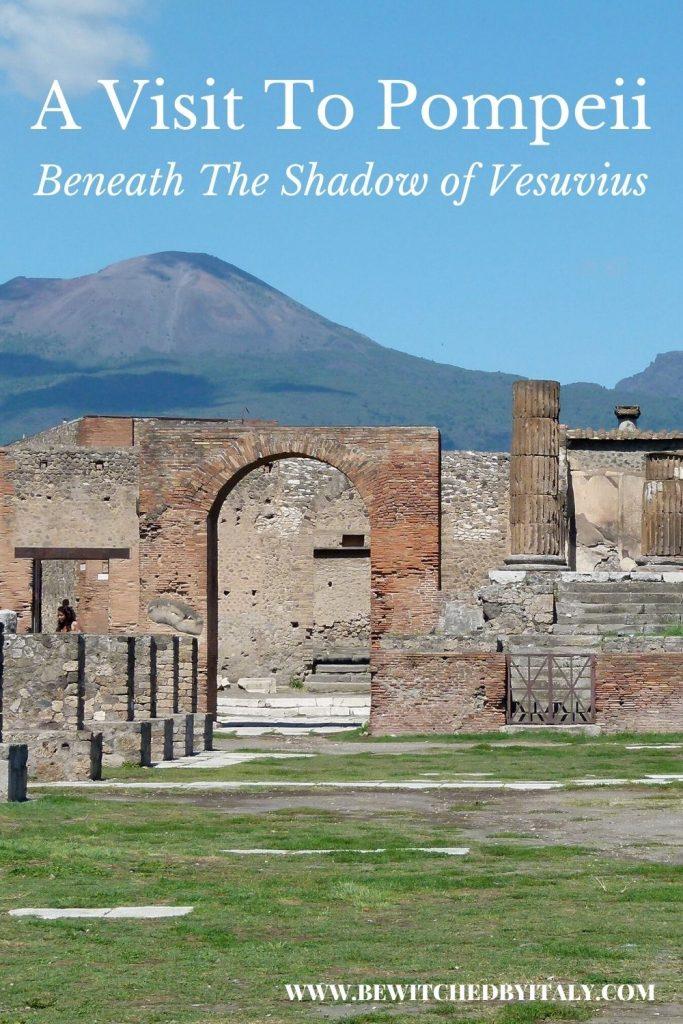 Roman Forum, with Vesuvius in the background