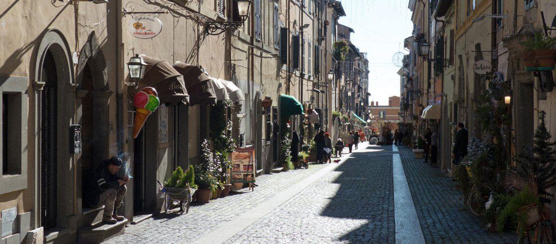 Old buildings in Castel Gandolfo