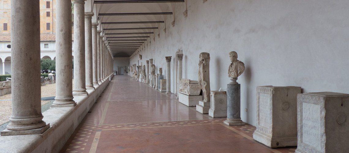 Statues in the Michelangelo Cloister