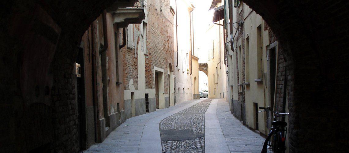 Street in Pavia